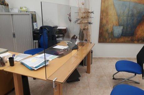 Oficina adaptada per la covid-19.